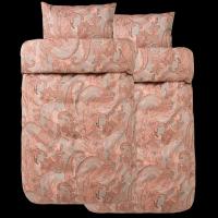 Bäddset 2 st Iselin Terracota från Høie, Egyptisk bomull150 x 210/50 x 60 cm