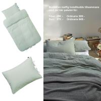Bäddset och örngott hotell LIVE från Høie, grön 150 x 210/50 x 60 cm & 100 x 70 cm
