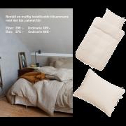 Bäddset och örngott hotell LIVE från Høie, natur 150 x 210/50 x 60 cm & 100 x 70 cm