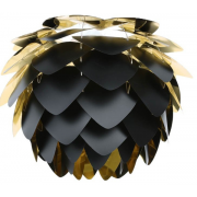 Silvia Lampskärm mini 34 cm, Svart & Guld från Vita