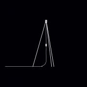 Lampstativ, Tripod vit från Vita