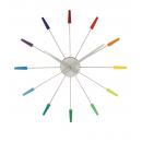 Väggklocka Plug Inn Flerfärgad, klocka från NeXtime