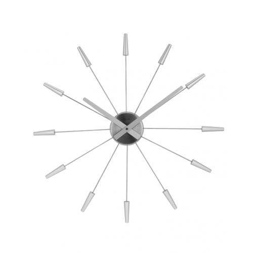 Väggklocka Plug Inn Silver, klocka från NeXtime