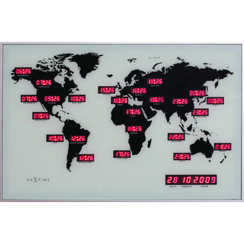Väggklocka World Time Digit, klocka från NeXtime