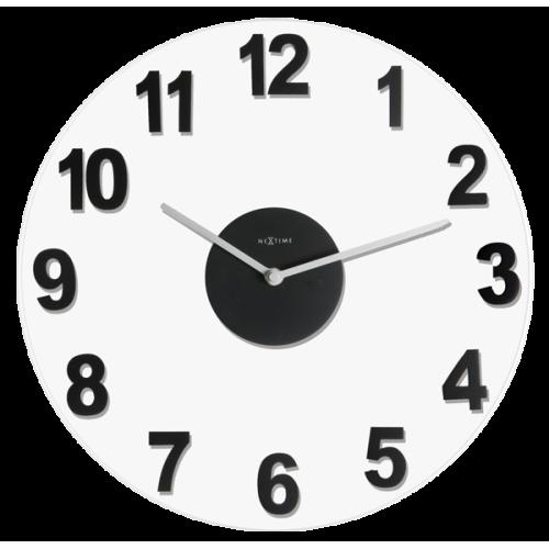 Väggklocka Woddy Svart, klocka från NeXtime