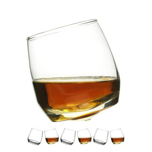 Whiskeyglas med rundad botten 6 st
