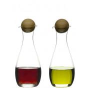 Olja/vinägerflaska med ekkork 2 st Oval Oak från Sagaform