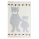 Høie Bamsebjörn barnpläd, ljusblå 100% ull