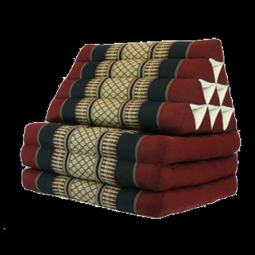 Triangelkudde, Thaikudde Röd/svart