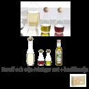 Gåvoset Vin-Vattenkaraff, Olja/Vinägerflaska Oval Oak & Basilika olja
